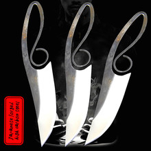 DEHONG 440C spring steel satin straight knife, sharp hunting knife, tactical survival knife, Chinese collection knife 1piece damascus steel knife blanks gift collection straight knife tea knife blanks tea tools needle