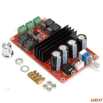 TDA3116D2 XH-M190 high-power digital power amplifier board TPA3116 dual-channel amplifier board 12-24V tpa3116 2 100w digital power amplifier board dual channel digital audio amplifier board module super bass ampl