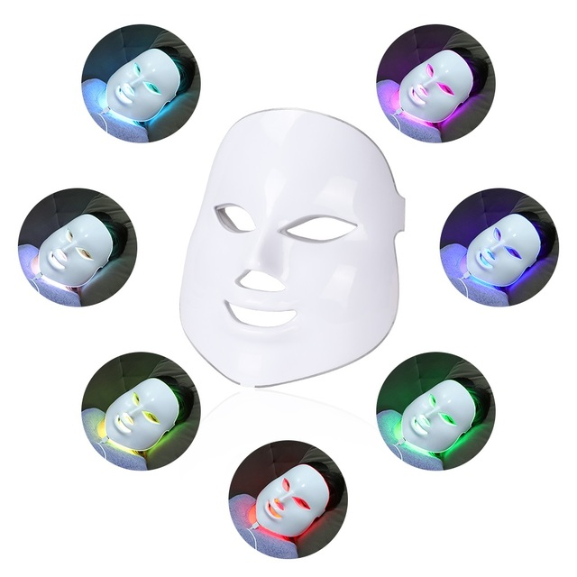 foreverlily Beauty Photon LED Facial Mask Therapy 7 colors Light Skin Care Rejuvenation Wrinkle Acne Removal Face Beauty Spa 2