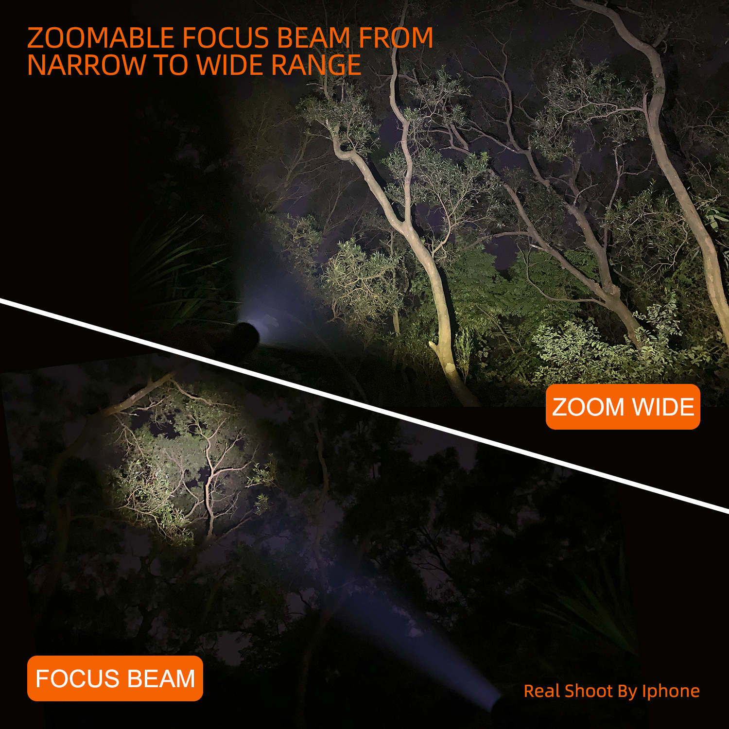 Image 3 - NICRON Zoomable LED Flashlight Dual Fuel 18650 / AA Battery 700LM IPX4 Waterproof 5 Modes For Riding Outdoor LED Torch Light N81-in Flashlights & Torches from Lights & Lighting