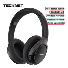 TeckNet Foldable Bluetooth 5.0 Earphone with Mic Wireless Bluetooth Headset Noise Cancelling Hi-Fi Stereo bluetooth Headphones(China)