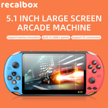 powkiddy x12 pro video game retro consoles portatil handheld game players 2000 games 5.1 inch screen