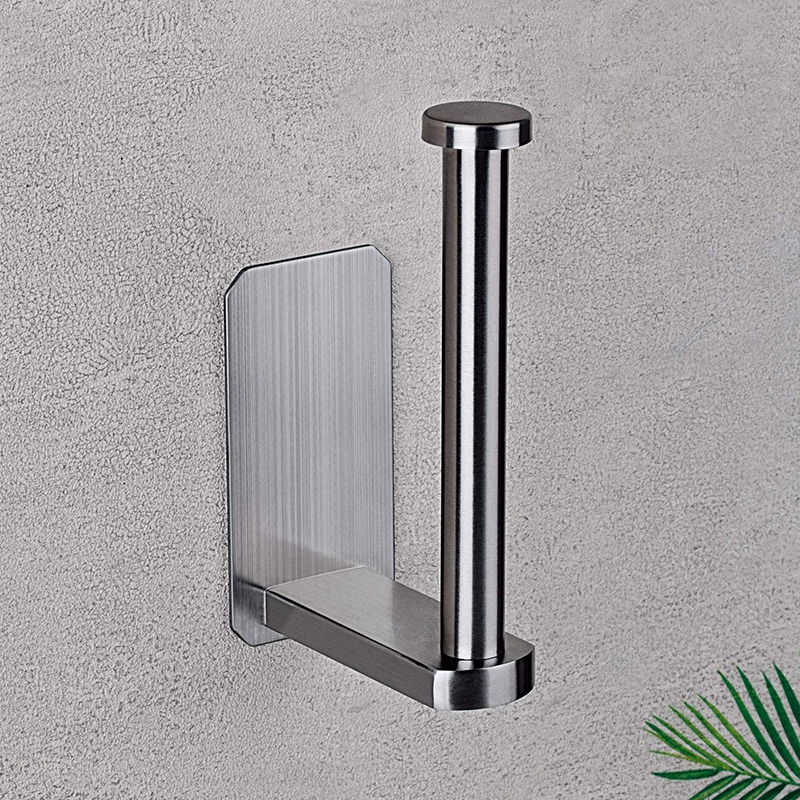 Self Adhesive Toilet Paper Holder SUS 304 Stainless Steel No Drilling Bathroom Kitchen Tissue Paper Roll Towel Holder Rustproof,