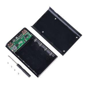 Image 1 - Qc3.0 usb tipo c pd 4x18650 bateria diy caixa de banco de potência led luz carregador rápido