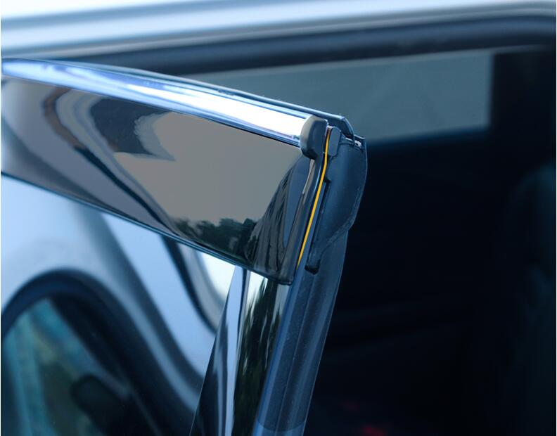 Image 2 - for Ford New Mondeo Rain Shield Special Window Rain Eyebrow Gear 13 18 Rain Shield Bar Decorative Accessories