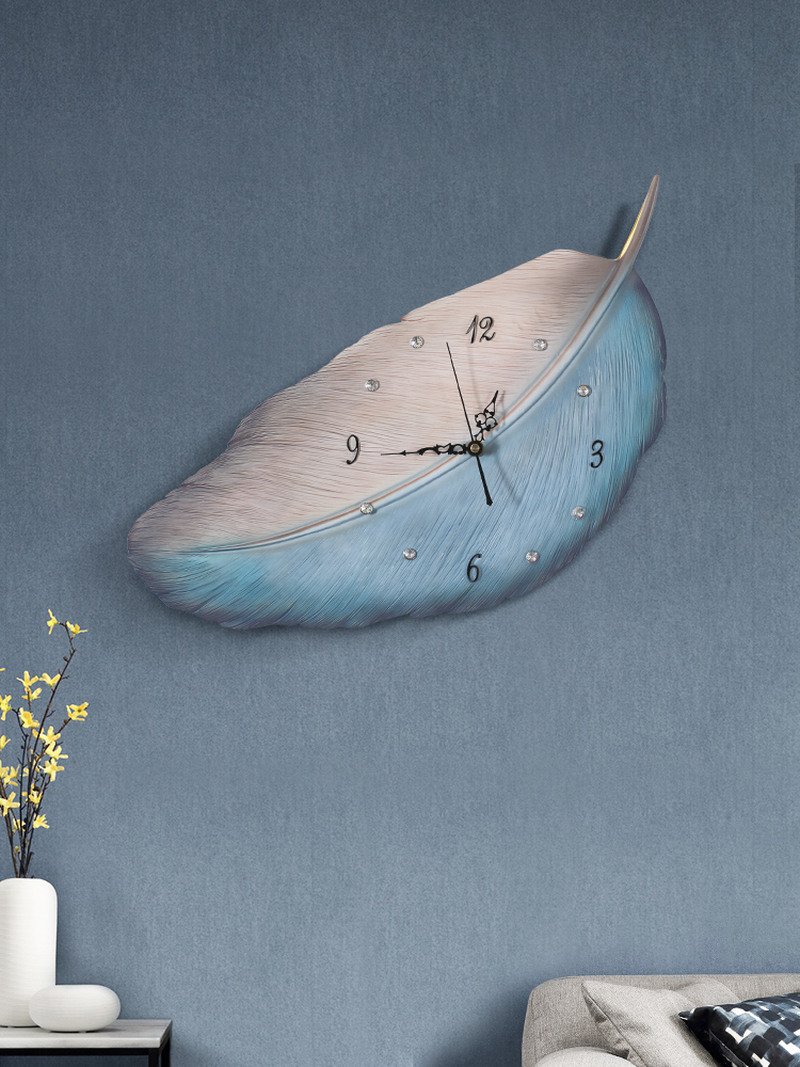Nordique vent horloge art horloge murale ménage salon décoration simple moderne ins net rouge personnalité horloge pas de trou