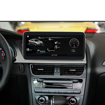 Android 10 1920 * 720IPS 10.25 Inch Car Multimedia Player 4G LTE 4 + 64G GPS Navigation Stereo Radio for 2009-2016 Audi A4 B8 A5 image