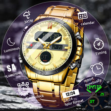 Nowy zegarek cyfrowy ze stali nierdzewnej mężczyźni zegarki sportowe elektroniczny LED męski zegarek na rękę dla mężczyzn zegar wodoodporny Relogio Masculino