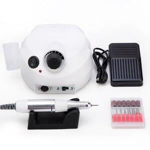 Image 3 - Máquina de trituração elétrica da broca do prego de 35000rpm para as brocas do manicure acessório kit pedicure polidor do prego de moagem máquina de vitrificação