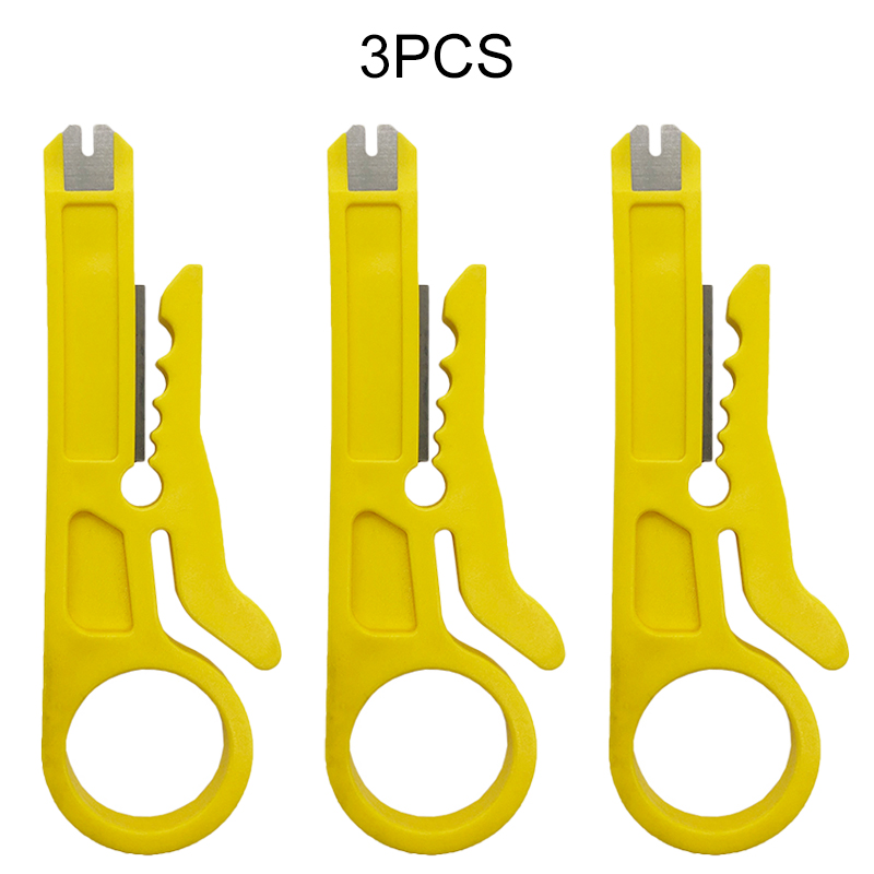 3pcs Mini Crimper Pliers Portable Wire Stripper Knife Cable Stripping Wire Cutter Tools Cut Line Pocket Multitool Crimping Tool