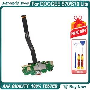 Image 1 - 100% nowy oryginał płyta usb płytka portu ładowania wtyczka usb do DOOGEE S70 z main fpc naprawy akcesoria zamienne części