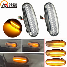 2Pcs Dynamische Seite Marker Lampe Für Fiat Abarth Punto Qubo Multipla Stilo Panda MK2 MK3(Van Evo) sequentielle Blinkende LED Licht