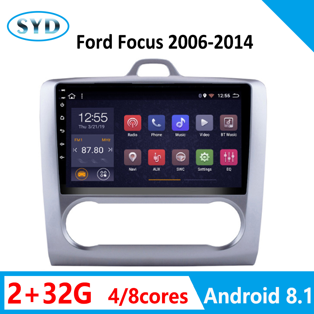 auto radio player for <font><b>Ford</b></font> <font><b>Focus</b></font> 2 multimedia for auto 2006-2014 32G 8 core android car GPS <font><b>navigation</b></font> carplay Rear View Camera image