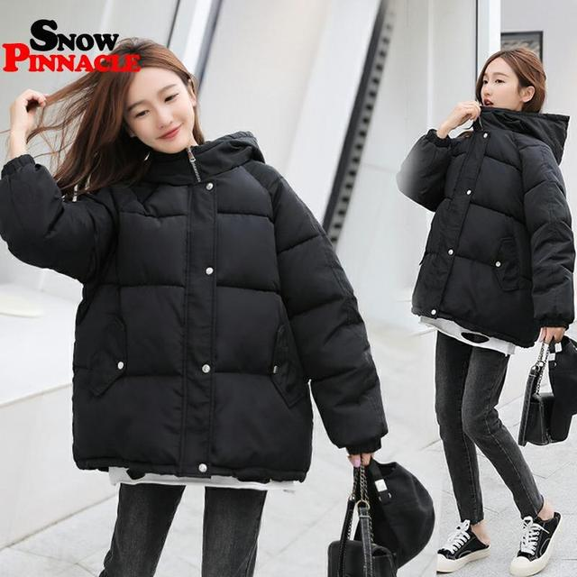 Winter women Parkas coat 2020 casual thicken warm hooded padded jackets Female solid colorful styled outwear snow jacket 5