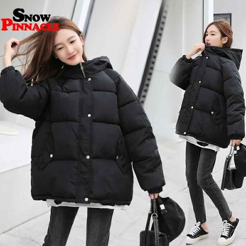 겨울 여성 Parkas coat 2020 캐주얼 thicken warm hooded padded jackets 여성 솔리드 컬러 풀 한 스타일의 outwear snow jacket