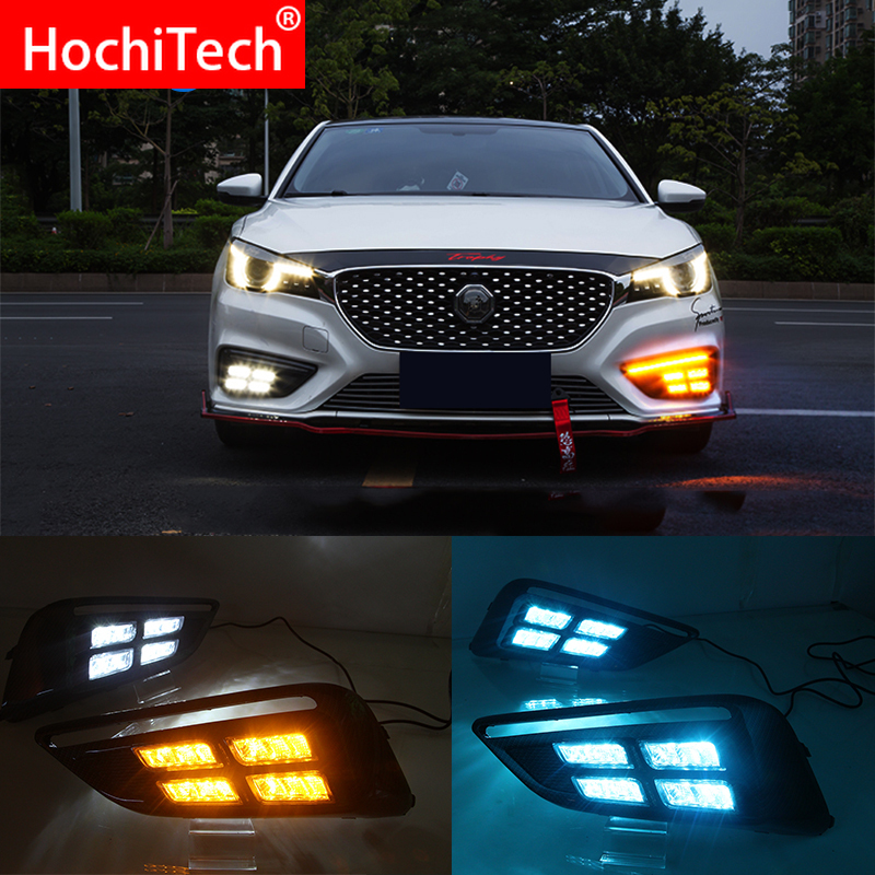 led dr daytime running light for MG <font><b>MG6</b></font> 2017 2018 <font><b>2019</b></font> with Dynamics moving flash turn signal and blue night light image