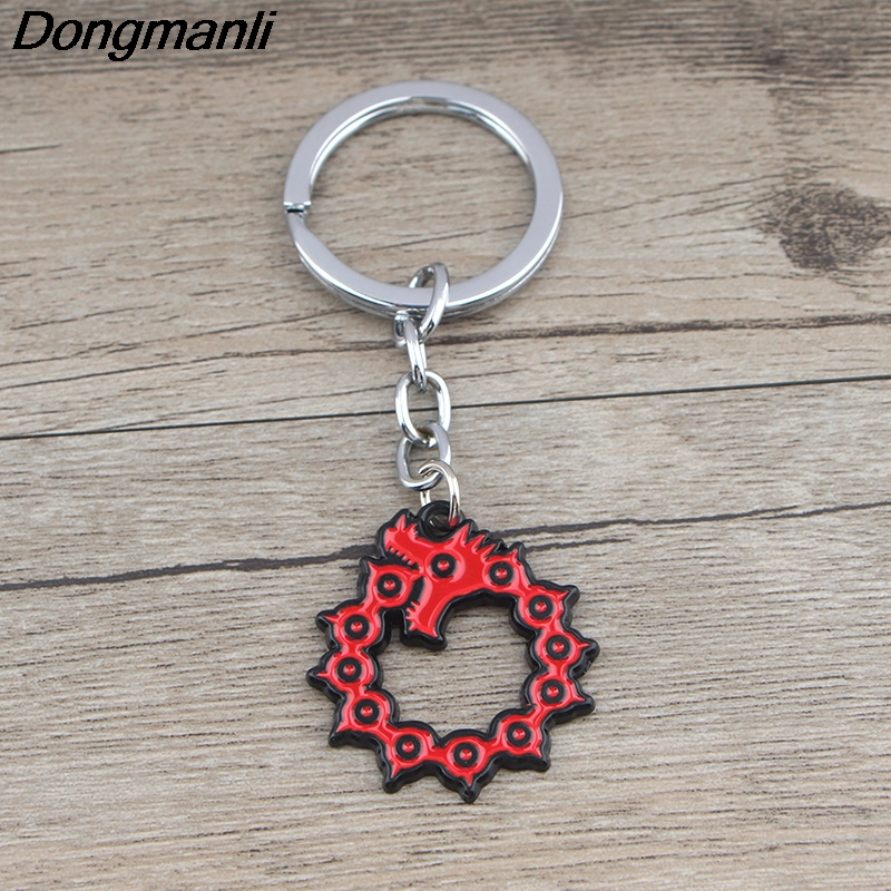 K715 The Seven Deadly Sins Keychain Keys Ring Gift For Movies Fans Pendant Key Holder Car Key Rings Halloween Party Gifts1pcs