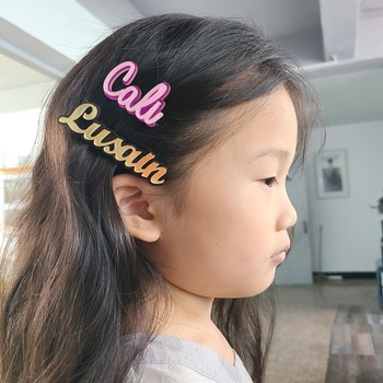 Custom Words Hair pins Barrettes Personalized