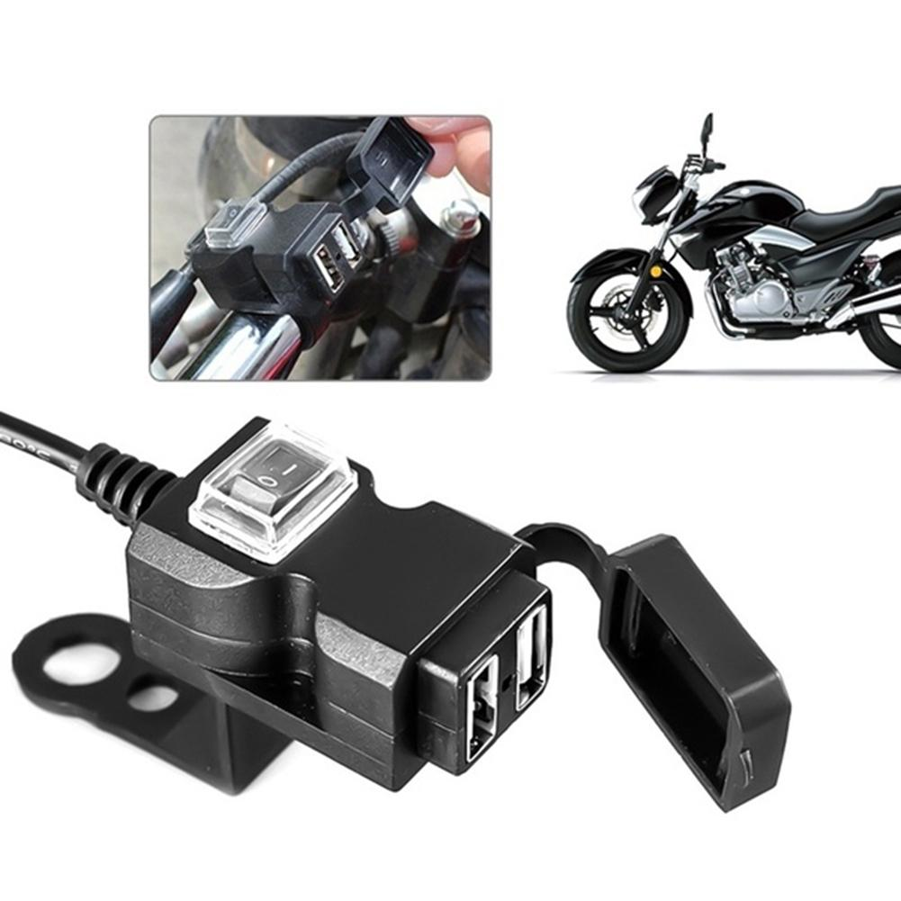 1.5/2A  9 - 24V, 9- 90V  Dual USB Port Waterproof Motorcycle USB Phone Charger Adapter Socket