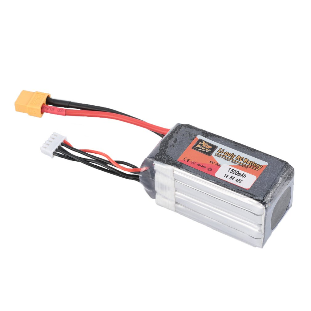 ZOP Power 14.8V/11.1V/7.4V/ 5000mAh/4500mAh/1300mAh/1500mAh/3500mAh/<font><b>6000mAh</b></font> 60C <font><b>4S</b></font> 1P <font><b>Lipo</b></font> <font><b>Battery</b></font> XT60 Rechargeable image