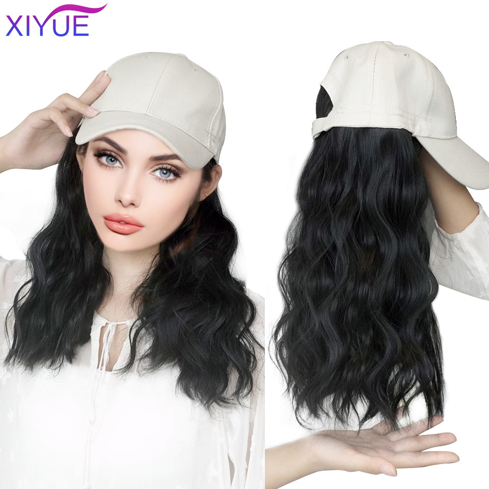Длинные Синтетические бейсболки, парик для волос, натуральный черный парик для наращивания волос, натуральный кукурузный венчик, парик, вол...
