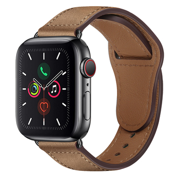 Genuine Leather strap For Apple watch band 44 mm 40mm for iWatch 42mm 38mm bracelet for Apple watch series 5 4 3 2 38 40 42 44mm недорого