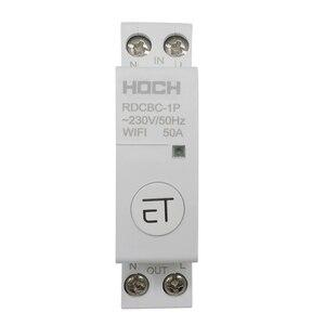Image 2 - HOCH RDCBC 1P не WIFI автоматический выключатель Пульт дистанционного управления eWeLink таймер умный дом din рейку переключатель завод