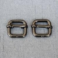 1 Teile/los 15mm Metall Slider Schnalle für, Der Handtasche Rucksack Gepäck Hund Kragen Gurtband Umwelt Überzogene