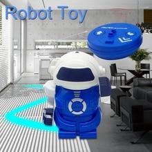Инфракрасный интеллектуальный пульт дистанционного управления роботы Электрический пульт дистанционного управления интерактивные Робот Игрушки синий