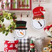 Christmas Countdown Calendar Home-Decoration Snowman Clock Wall-Hanging-Ornament Santa-Claus