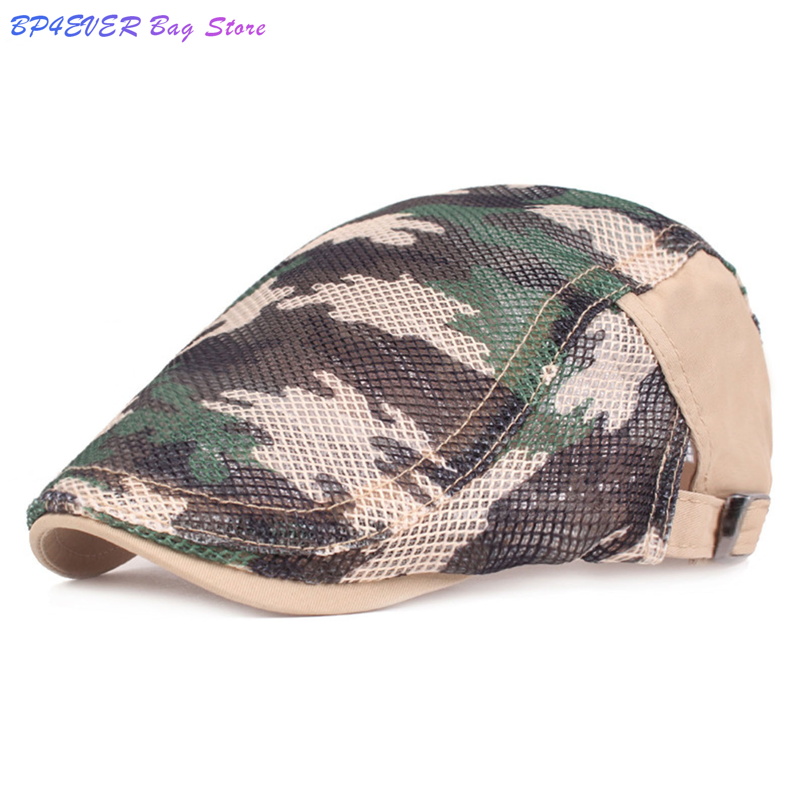 hats for men and Women mesh breathable sun shading art youth Berets Camouflage Prin mesh breathable sun shading art youth Berets