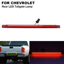 цена на 1Pcs LED Rear Third Strobe Brake Light Lamp Tailgate Red For CHEVROLET Silverado 2500 3500 GMC Sierra 2500 3500 Car Accessories