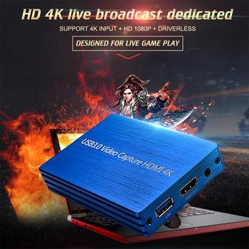 4K USB 3.0 Video Capture HDMI To USB 3.0 Video Capture HDMI Capture Card Box 1080P HD Game Live Stream for Windows Linux Os X