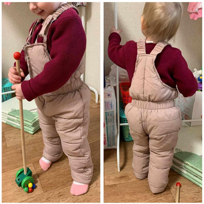 เด็กฤดูหนาวOverallsหญิง & ชายฤดูหนาวหนากางเกงผ้าฝ้ายเด็กOverallsสำหรับ1-5ปีเด็กJumpsuit