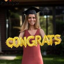 16 Polegada suspensão parabéns folha carta balões ouro graduação balões para a classe de 2021 faculdade high school graduação decoração