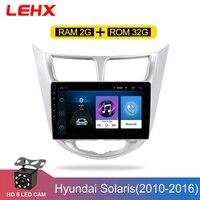 Car Radio Multimedia Video Player Navigation GPS Car Android For Hyundai Solaris Accent Verna 2011 2012 2013 2014 2016