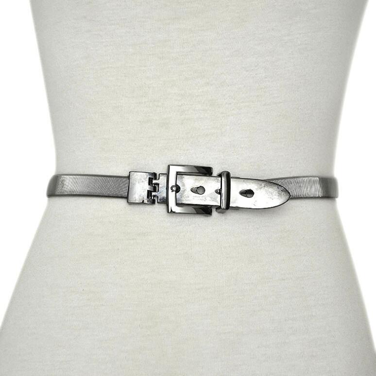 Women's Runway Fashion Elastic Metal Cummerbunds Female Dress Corsets Waistband Belts Decoration Wide Belt R2388