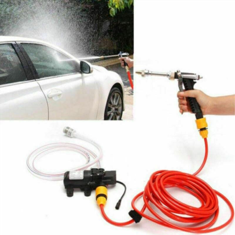 12V Car High Pressure Washer Portable Water Gun Pump Kit Jet Wash Cleaner Hose Van For Car Caravan Outdoor Camping Travel