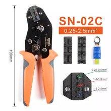Iwiss SN-02C 280 kit de pré-alicates para pré-instalação de peças de construção 0,25-2.5mm ² AWG24-14 de