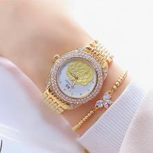 Top Brand Diamond Elegant Ladies Flower Dial Watch Women Charming Bracelet Luxury Girl Fashion Casual Zegarek Dams