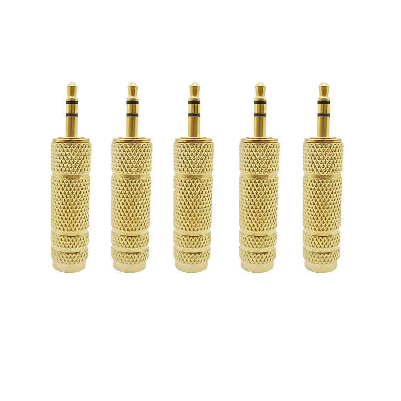 6.5mm gniazdo żeńskie gniazdo do 3.5mm wtyk męski adapter audio stereo Jack konwerter mikrofon audio słuchawki słuchawki przewód aux