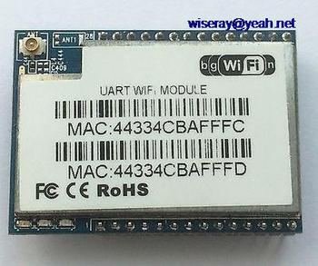 DHL/EMS 20pcs Wireless module Serail to RJ45 Serail to Wifi HLK-RM04 with External antenna-A1