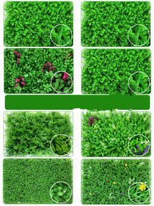 Image 2 - 40x60cm Artificial Green Plant Lawns Carpet for Home Garden Wall Landscaping Green Plastic Lawn Door Shop Backdrop Image Grass
