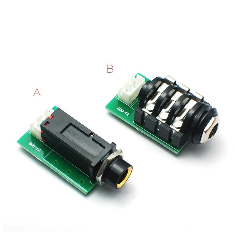 6.35 6.5 Microphone Signal Take-off Board DIY Wiring Board Headphone Jack Adapter Board