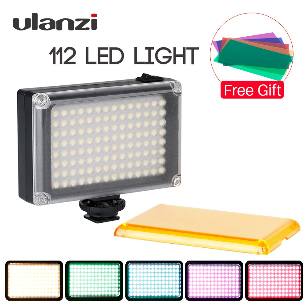 Ulanzi Video-Light Dslr-Camera Smartphone Photography 112 LED with Cold-Shoe RGB FILTER