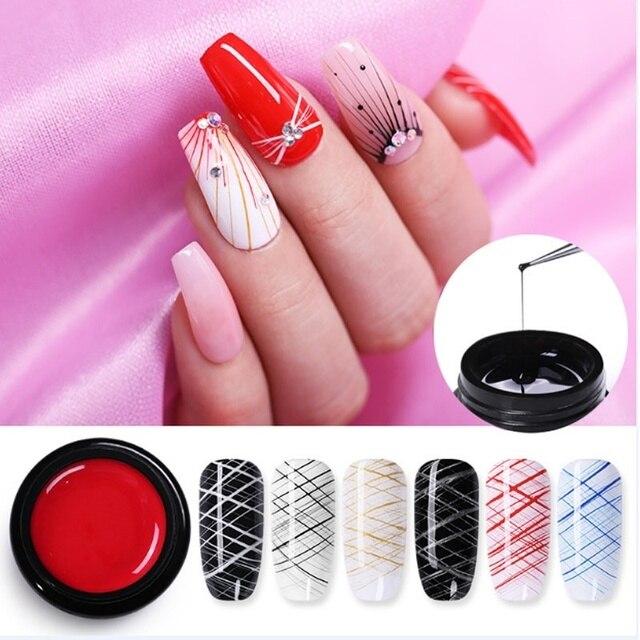 1 Pcs Spider Gel Nail Polish LED UV Gel Cheap For Nail Soak Off Nails Gel Lacquer Glitter 8ML Nude Red Hybrid Nail Polish Gel 2
