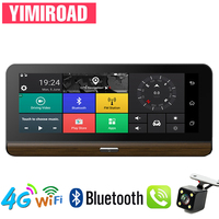 YIMIROAD H3 Rear View Mirror Parking Monitor 4G Reverse Camera Car Dvr ADAS GPS Navigator Auto Recorder Full HD 1080P Dash Cam