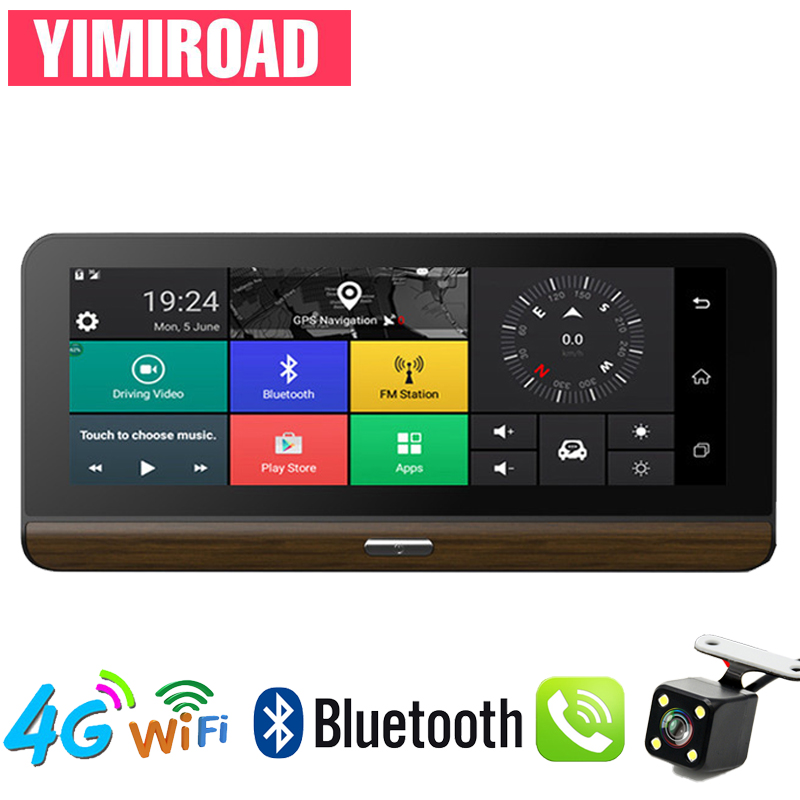 YIMIROAD H3 Rear View <font><b>Mirror</b></font> Parking Monitor 4G Reverse Camera <font><b>Car</b></font> <font><b>Dvr</b></font> ADAS <font><b>GPS</b></font> Navigator Auto <font><b>Recorder</b></font> Full HD 1080P Dash Cam image