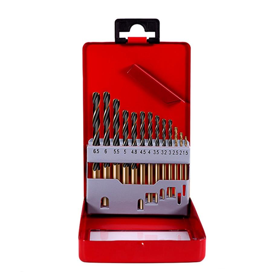 13pcs 1.5-6.5mm HSS Cobalt Twist Drill Bit Set For Metal Power Tools Accessories Drill Bit Tool