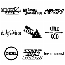 Sticker Decal Decor-Accessories Japanese Personality Diesel Cars Funny The Car-Styling